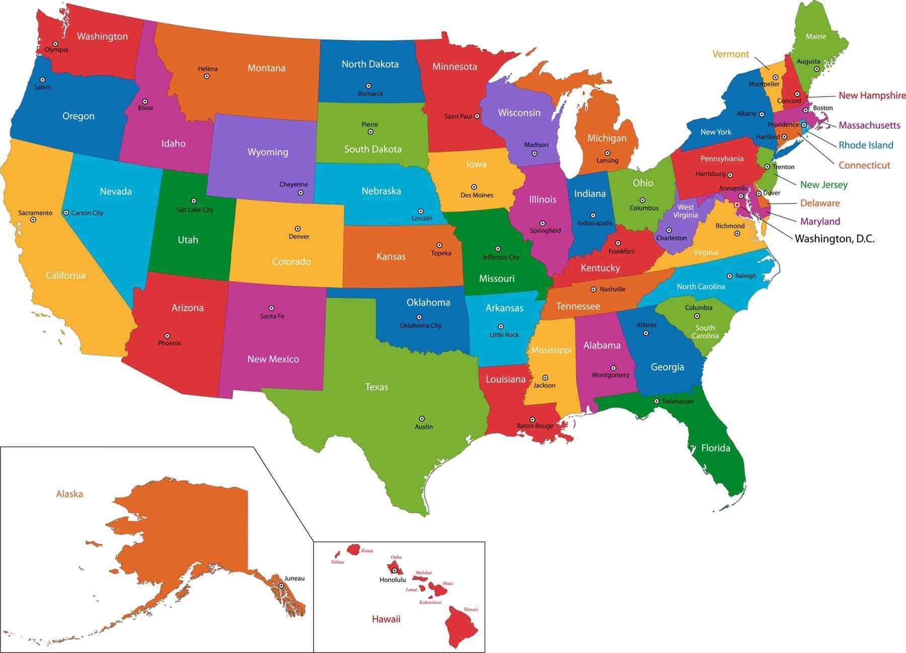 Hvor mange stater er der i USA?