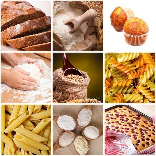 Der er ofte gluten i pasta og bagværk